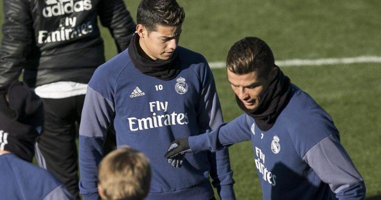 James sigue entrenando al margen con el Real Madrid